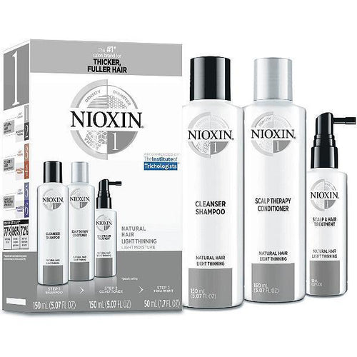 Nioxin Shampoo, Conditioner, Scalp Treatment - System Kit 1
