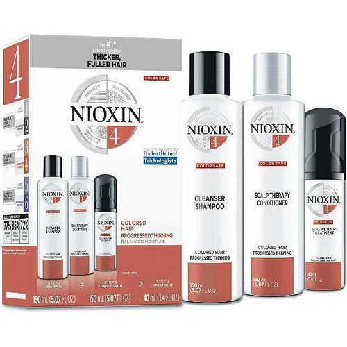 Nioxin Shampoo, Conditioner, Scalp Treatment - System Kit 4
