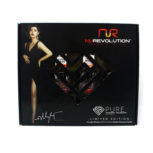 NuRevolution - Dip Powder - Special Edition Diamond Collection Black