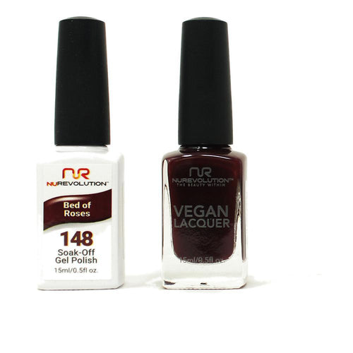 NuRevolution - Gel & Lacquer - Bed of Roses - #148