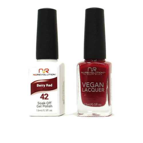 NuRevolution - Gel & Lacquer - Berry Red - #42