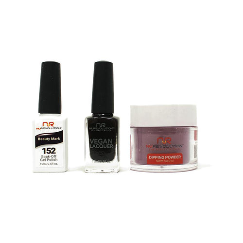 NuRevolution - Gel, Lacquer & Dip Combo - Beauty Mark - #152