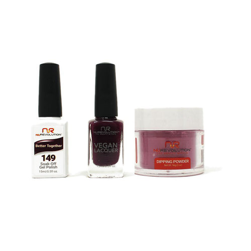 NuRevolution - Gel, Lacquer & Dip Combo - Better Together - #149