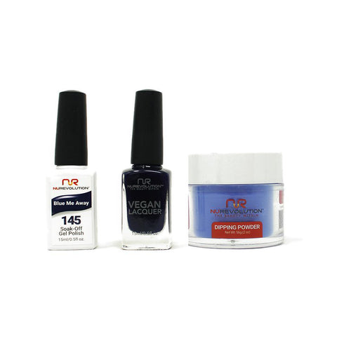 NuRevolution - Gel, Lacquer & Dip Combo - Blue Me Away - #145