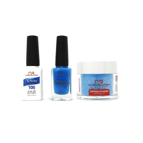 NuRevolution - Gel, Lacquer & Dip Combo - By the Sea - #105