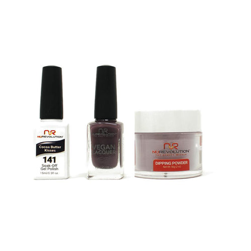 NuRevolution - Gel, Lacquer & Dip Combo - Cocoa Butter Kisses - #141