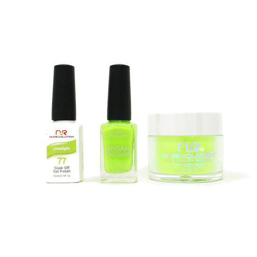 NuRevolution - Gel, Lacquer & Dip Combo - Limelight - #77