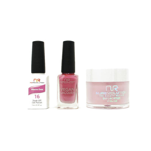 NuRevolution - Gel, Lacquer & Dip Combo - Mauve Over - #16