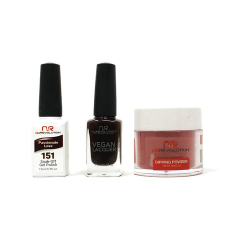NuRevolution - Gel, Lacquer & Dip Combo - Passionate Love - #151