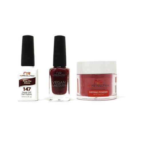 NuRevolution - Gel, Lacquer & Dip Combo - Ring the Alarm - #147