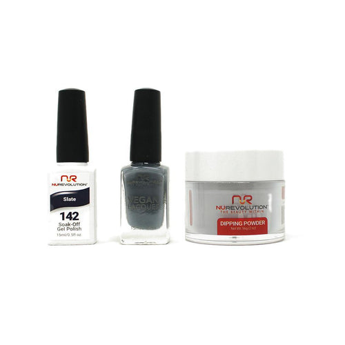 NuRevolution - Gel, Lacquer & Dip Combo - Slate - #142
