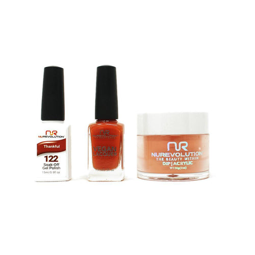 NuRevolution - Gel, Lacquer & Dip Combo - Thankful - #122