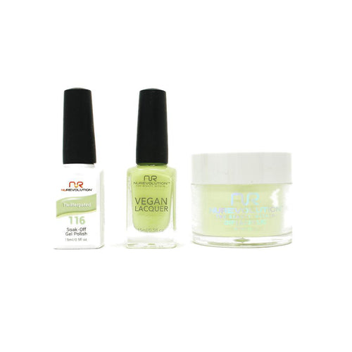 NuRevolution - Gel, Lacquer & Dip Combo - Twitterpated - #116