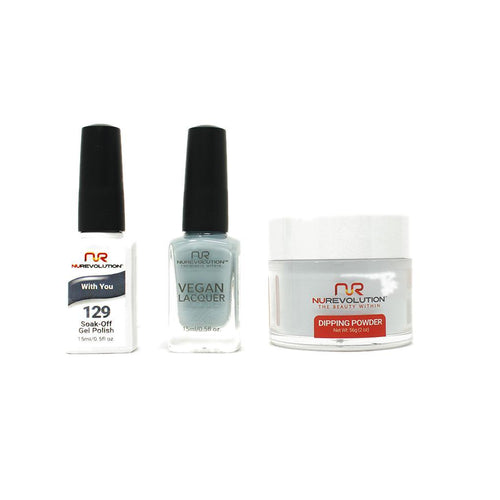 NuRevolution - Gel, Lacquer & Dip Combo - With You - #129