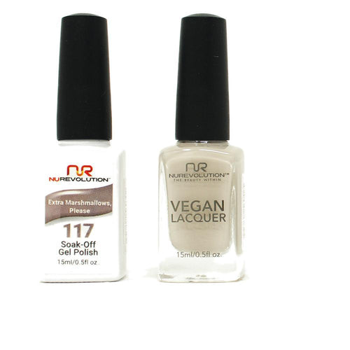 NuRevolution - Gel & Lacquer - Extra Marshmallow Please - #117