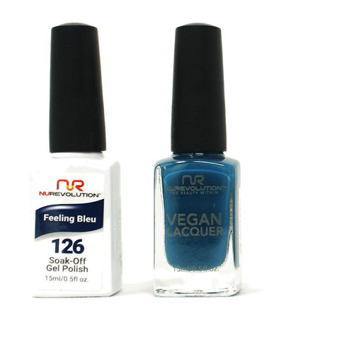 NuRevolution - Gel & Lacquer - Feeling Bleu - #126