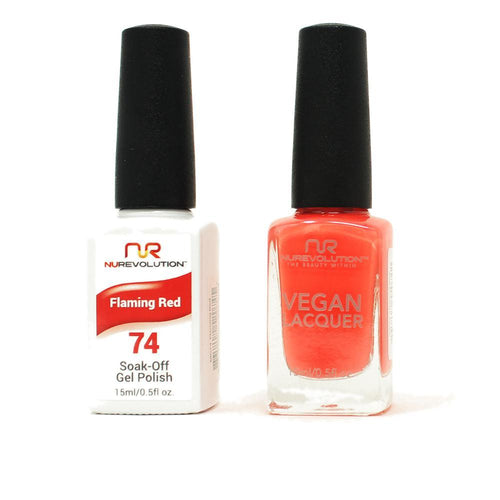 NuRevolution - Gel & Lacquer - Flaming Red - #74