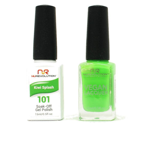 NuRevolution - Gel & Lacquer - Kiwi Splash - #101