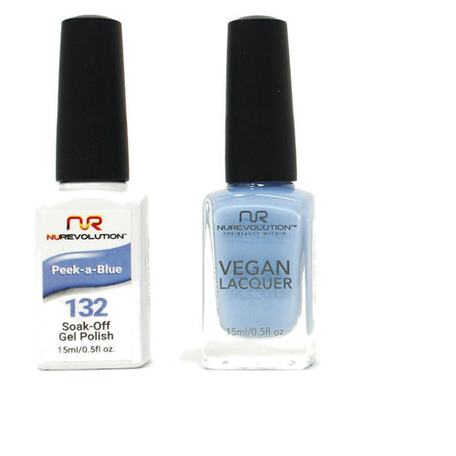 NuRevolution - Gel & Lacquer - Peek-a-Blue - #132