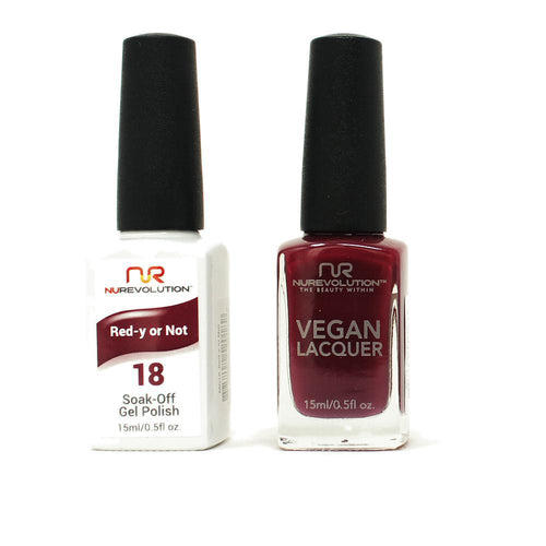 NuRevolution - Gel & Lacquer - Red-y or Not - #18