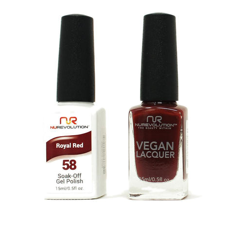 NuRevolution - Gel & Lacquer - Royal Red - #58