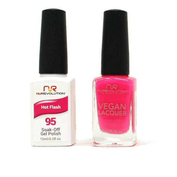 NuRevolution - Gel & Lacquer - Hot Flash - #95