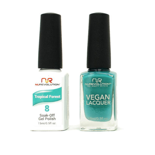 NuRevolution - Gel & Lacquer - Tropical Forest - #08