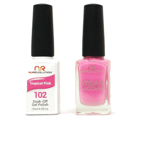 NuRevolution - Gel & Lacquer - Tropical Pink - #102