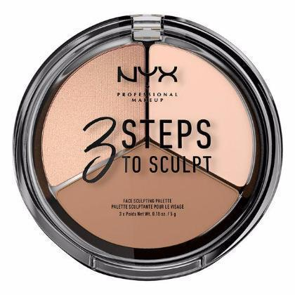 NYX 3 Steps Face Sculpting Palette - Fair - #3STS01