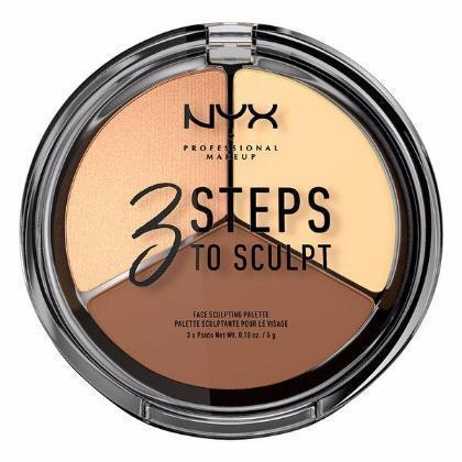 NYX 3 Steps Face Sculpting Palette - Light - #3STS02