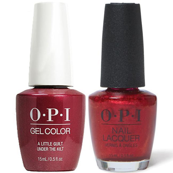 OPI - Gel & Lacquer Combo - A Little Guilt Under The Kilt