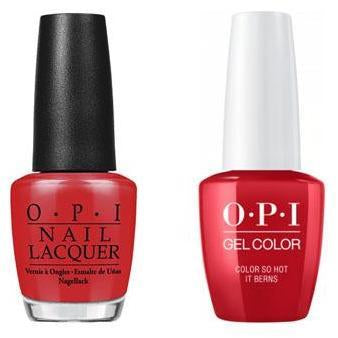 OPI - Gel & Lacquer Combo - Color So Hot It Berns