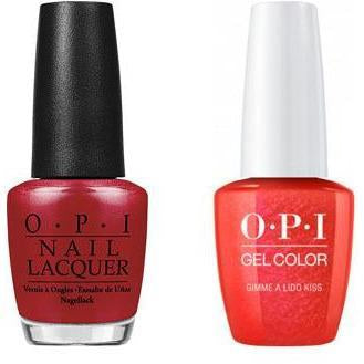 OPI - Gel & Lacquer Combo - Gimme a Lido Kiss