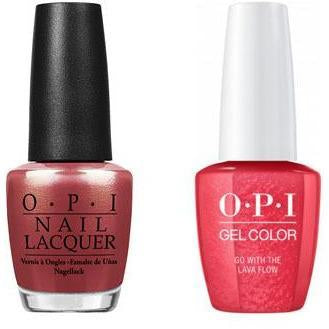 OPI - Gel & Lacquer Combo - Go with the Lava Flow
