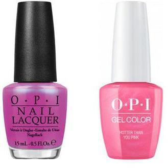 OPI - Gel & Lacquer Combo - Hotter Than You Pink