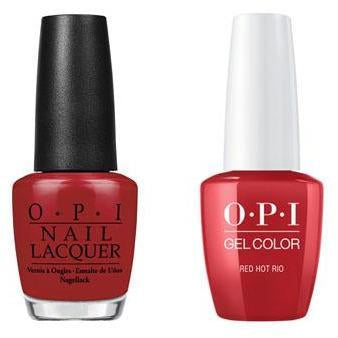 OPI - Gel & Lacquer Combo - Red Hot Rio