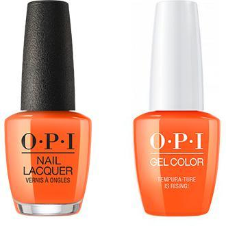 OPI - Gel & Lacquer Combo - Tempura-ture is Rising!