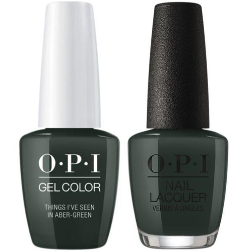 OPI - Gel & Lacquer Combo - Things I've Seen In Aber-green