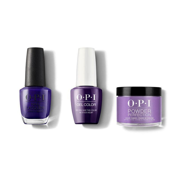 OPI - Gel, Lacquer & Dip Combo - Do You Have This Color in Stock-Holm?