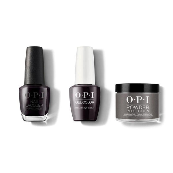 OPI - Gel, Lacquer & Dip Combo - Shh Its Top Secret