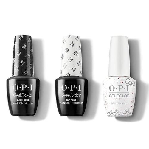 OPI - GelColor Combo - Base, Top & Born To Sparkle