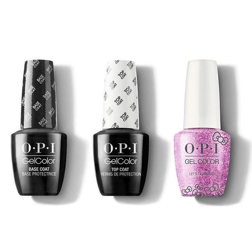 OPI - GelColor Combo - Base, Top & Let's Celebrate!