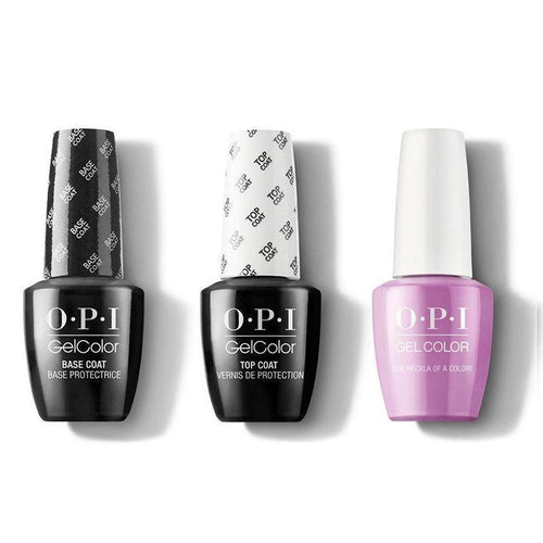 OPI - GelColor Combo - Base, Top & One Heckla of a Color!