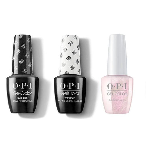 OPI - GelColor Combo - Base, Top & Throw Me a Kiss
