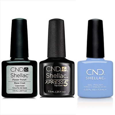 CND - Shellac Xpress5 Combo - Base, Top & Chance Taker (0.25 oz)