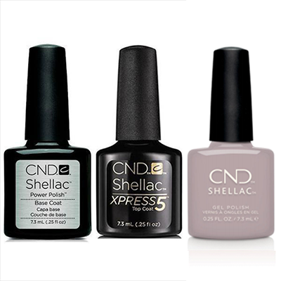 CND - Shellac Xpress5 Combo - Base, Top & Change Sparker (0.25 oz)