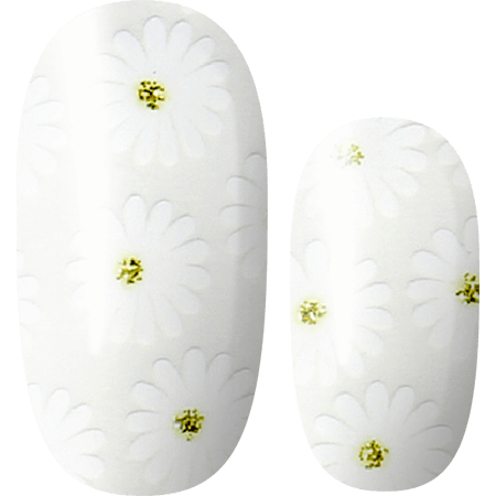 Lily and Fox - Nail Wrap - Daisy Chain Dreaming (Transparent) #A0356