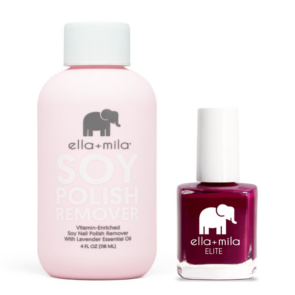 ella+mila - Soy Polish Remover & In Line for Wine - .45oz