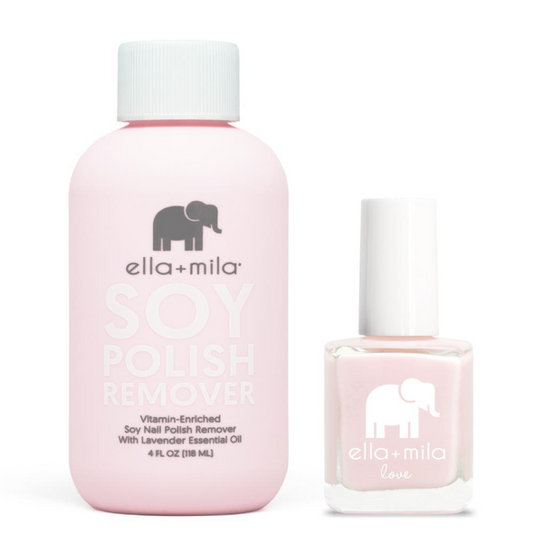 ella+mila - Soy Polish Remover & Stuck On You - .45oz