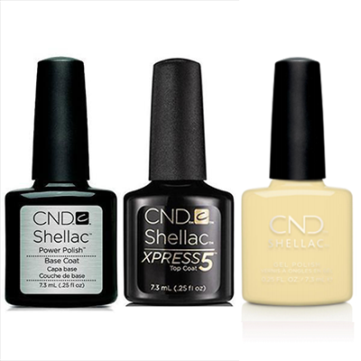 CND - Shellac Xpress5 Combo - Base, Top & Smile Maker (0.25 oz)